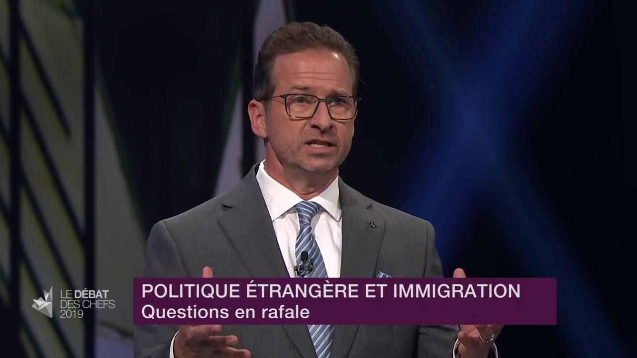 Yves-François Blanchet répond à la question du modérateur sur l'affaire Huawei