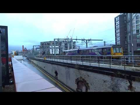 Northern Class 142 Pacer Railbus 142007 departs Manchester V…