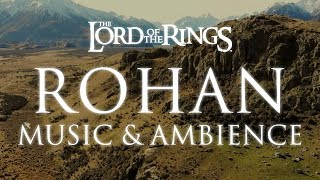 Lord of the Rings Music & Ambience | Rohan Theme Music with Mountain Wind Ambience