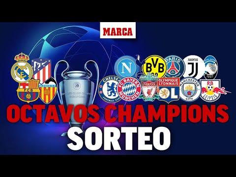 , title :'Sorteo de Champions 2020: Rivales de octavos de Real Madrid, Atletico, FC Barcelona y Valencia'