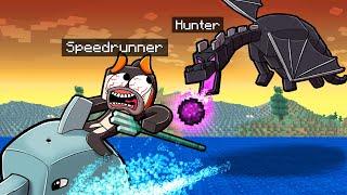 Minecraft Manhunt, but ENDER DRAGON is a HUNTER! (Speedrunner vs Hunter)