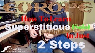 "EUROPE - How To Play ""SUPERSTITIOUS"" (Guitar Solo) Just In 2 Steps"