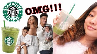 TRYING THE ACE FAMILY'S FAVORITE STARBUCKS DRINK💚 #EATCIN