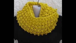 CROCHET INFINITY SCARF NR.2 *EASY ONE ROW REPEAT PATTERN *