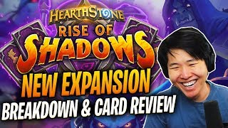 TOAST REACTS TO THE NEW EXPANSION: Rise of Shadows | Card Review & Breakdown | Hearthstone