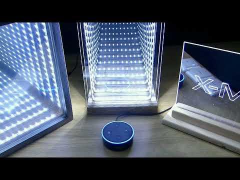 Infinity Mirrors with  Amazon Alexa Echo Dot Smarthome Voice Control