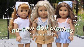 Diy No-sew American Girl Clothes *brandy Melville Skirt, Wrap Top, Bandana & More*
