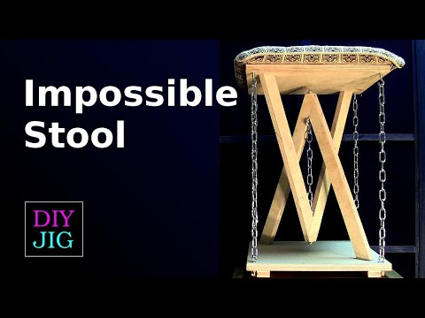 How to Make an Impossible Stool - Tensegrity Stool - DIY JIG