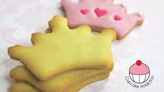 VANILLA SUGAR COOKIE RECIPE! For Perfect Decorated Cookies Every Time - By Cupcake Addiction