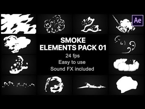 Cartoon Smoke Elements Pack Titles | After Effects templates