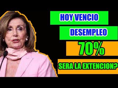 HOY VENCIO EL DESEMPLEO QUE DIJO NANCY PELOSI SOBRE LO MAS IMPORTANTE DEL SEGUNDO ESTIMULO ECONOMICO