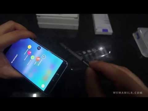 Unboxing Samsung Galaxy Note 5 DUOS and wireless charger / close ups
