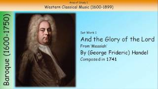 1. And The Glory Of The Lord - Handel (GCSE Music Edexcel)