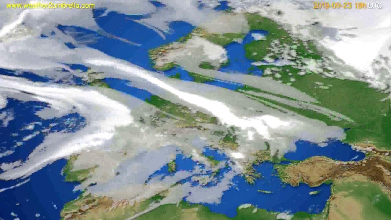 Cloud forecast Europe // modelrun: 12h UTC 2019-09-20