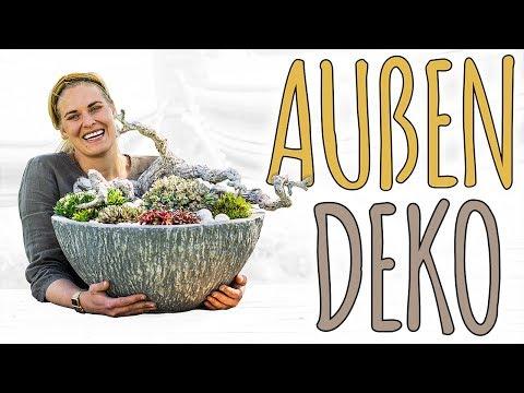 AUßENDEKO - KAUM PFLEGE, SOMMER PUR - DIY