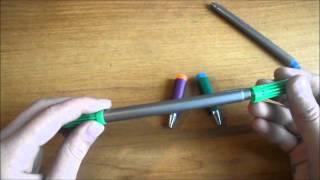 Как сделать ручку для пенспиннинга в домашних