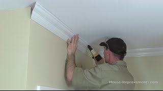 How To Cut & Install Crown Moulding