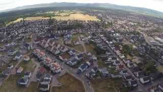 preview picture of video 'Haßloch FPV, windig, DJI F550 mit GoPro und Zenmuse H3-3D Gimbal'