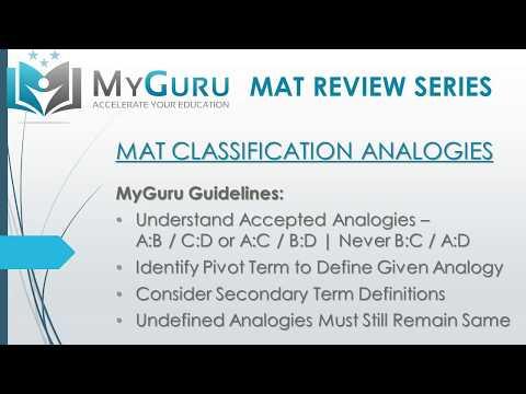 MyGuru Tutoring - Miller Analogies Test (MAT) Classification ...