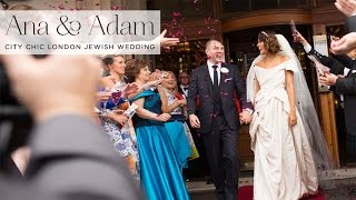 Ana & Adam | City Chic Jewish Wedding At The Criterion, Central London