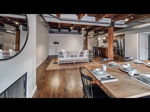 A West Loop 2-bedroom, 2-bath model at The Lofts at Gin Alley