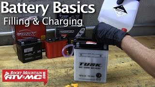 Battery Basics & Activation - Filling & Charging A Motorcycle Battery