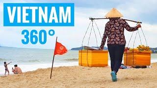 [360° Video] Vietnam Beach Women selling Fruits Mango Samsung Gear 360 VR