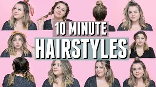 10 (mostly) Heatless Hairstyles You Can Do in 10 Minutes or Less!