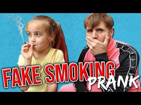 FAKE SMOKING PRANK!!!!