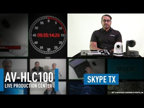 AV-HLC100 Live Production Center: Configuring SkypeTX