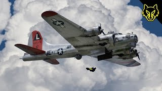 B-17 Wingsuit Jump Out the Bomb Bay Doors