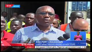 KTN Prime: KRA Crackdown intercepts two Range Rovers disguised as used bail of clothes, 13/10/16