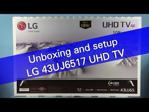 LG 43UJ6517 UJ65 UHD TV unboxing