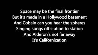 Gambar cover Red Hot Chilli Peppers Californication Lyrics