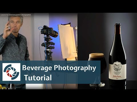 Beverage Photography tutorial:  How to shoot  bottle of beer