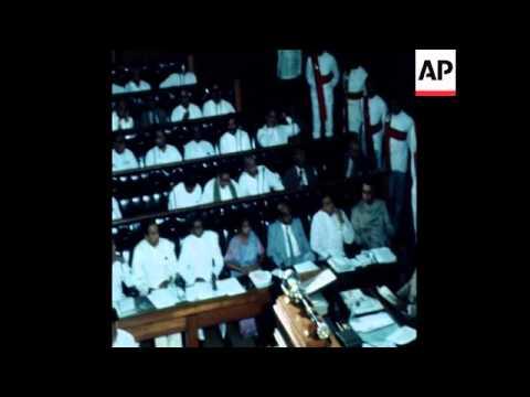 UPITN 8 9 78 INAUGURATION OF THE NEW PRESIDENT JAYAWARDHENA