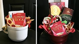 Dollar Store Christmas Gift Baskets |  Inexpensive Christmas Gift Ideas