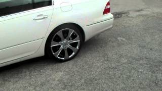DUBSandTIRES.com 20 Inch Helo HE874 HE-874 2005 Lexus LS-460 Rims Custom Forgiato Asanti
