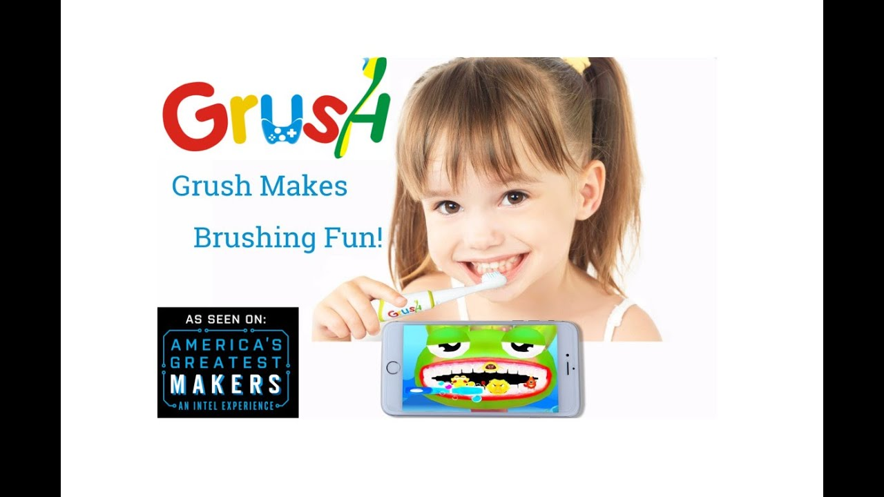 Умная детская зубная щетка GRUSH Smart BТ video preview