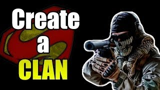 How To Create A COD Ghosts Clan (Call of Duty Ghosts)