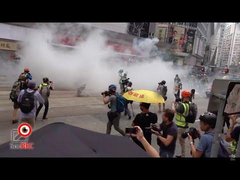 29SEPT2019警於銅鑼灣突無故向市民施放催淚彈
