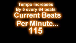 Increasing Tempo MetronomeDrum Loop  80 180 Bpm (4 Beatsmeasure)
