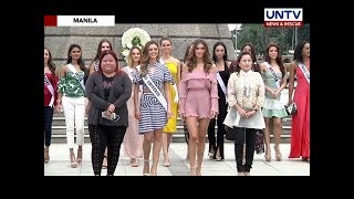Miss Universe 2017 and some candidates visit some tourist spots in Manila