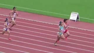 2016年富山県高校陸上新人選手権女子200m準決勝