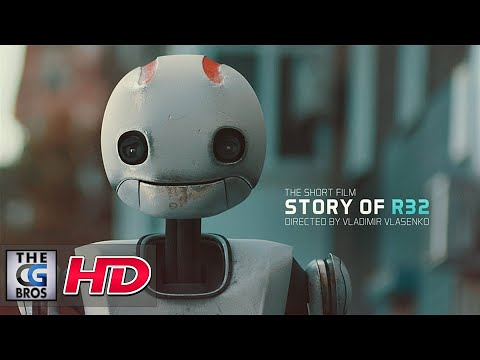 """CGI VFX Shorts : """"Story of R32"""" – by A robot on a spotless journey encounters a new friend."""