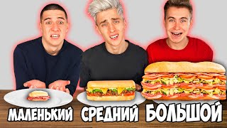 BIG, MEDIUM or SMALL SANDWICH CHALLENGE!