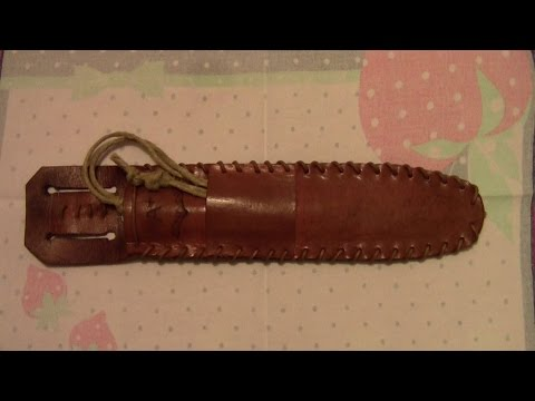 Fodero per coltello bushcraft (leather sheath)