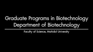 Graduate Programs In Biotechnology, Faculty Of Science   MU Link