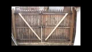 How repair sagging gate door
