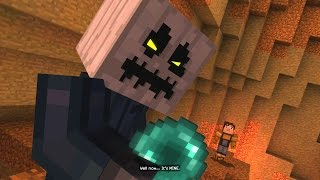 Minecraft: Story Mode - Battling The White Pumpkin (29) by Stampy